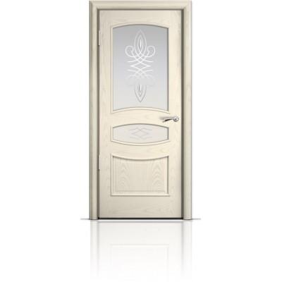 Межкомнатная Дверь Мильяна Венеция Ясень жемчуг стекло Гранд