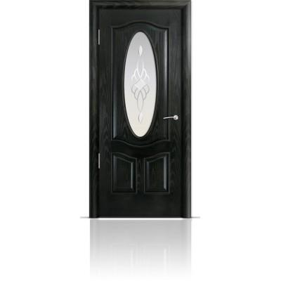 Межкомнатная Дверь Мильяна Барселона Ясень винтаж стекло Гранд