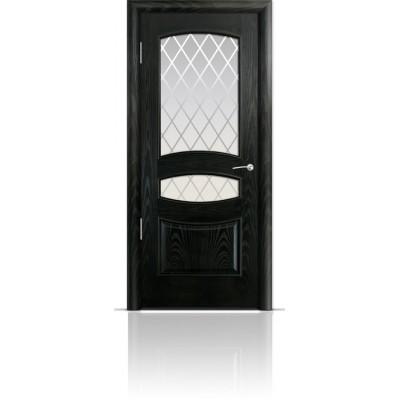 Межкомнатная Дверь Мильяна Венеция Ясень винтаж стекло Готика