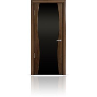 Межкомнатная Дверь Мильяна Омега-1 Американский орех триплекс черный