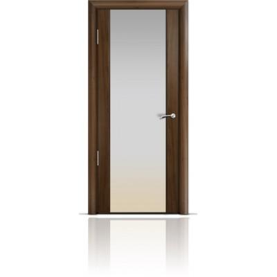 Межкомнатная Дверь Мильяна Омега-2 Американский орех триплекс белый