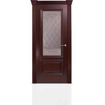 Межкомнатная Дверь Мильяна Бристоль Премиум Красное дерево стекло Арианда бронза