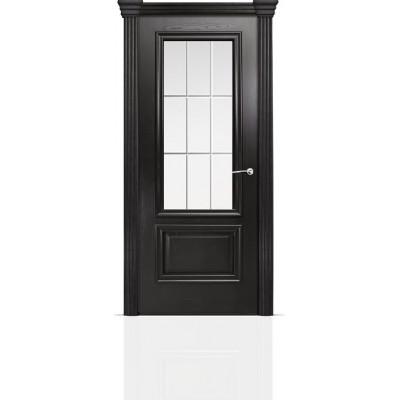 Межкомнатная Дверь Мильяна Бристоль Премиум Ясень винтаж стекло Премиум белое
