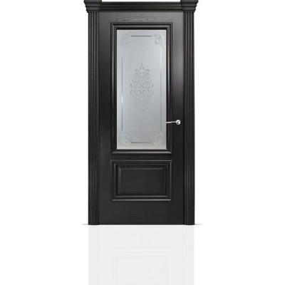 Межкомнатная Дверь Мильяна Бристоль Премиум Ясень винтаж стекло Кларис белое