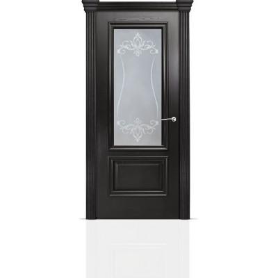 Межкомнатная Дверь Мильяна Бристоль Премиум Ясень винтаж стекло Лициция белое