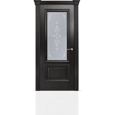 Межкомнатная Дверь Мильяна Бристоль Премиум Ясень винтаж стекло Эстель белое