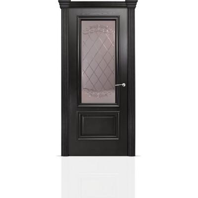 Межкомнатная Дверь Мильяна Бристоль Премиум Ясень винтаж стекло Арианда бронза
