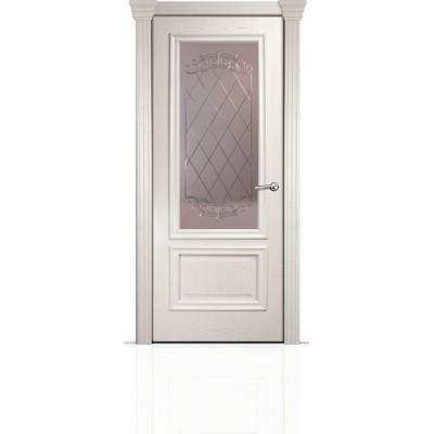 Межкомнатная Дверь Мильяна Бристоль Премиум Ясень жемчуг стекло Арианда бронза