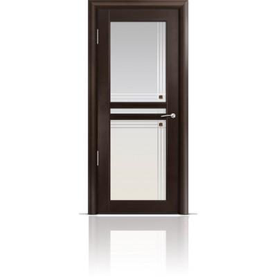 Межкомнатная Дверь Мильяна Натель-1 Венге стекло