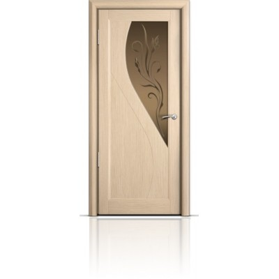 Межкомнатная Дверь Мильяна Яна Беленый дуб стекло бронзовое Яна