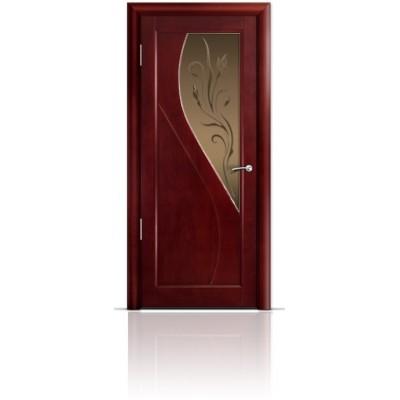 Межкомнатная Дверь Мильяна Яна Красное дерево стекло бронзовое Яна