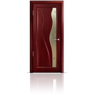 Межкомнатная Дверь Мильяна Ирен Красное дерево стекло бронзовое Ирен