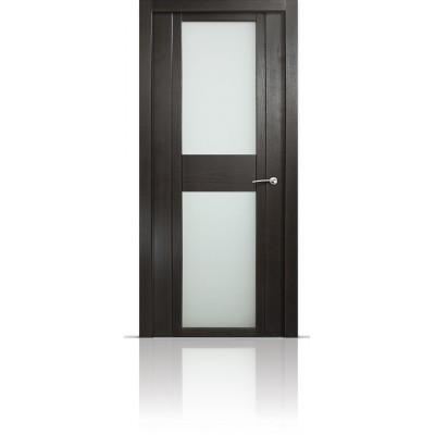 Межкомнатная Дверь Мильяна Qdo-D Ясень винтаж стекло белое