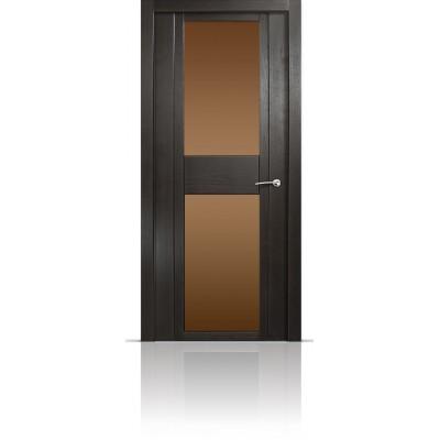 Межкомнатная Дверь Мильяна Qdo-D Ясень винтаж стекло бронзовое