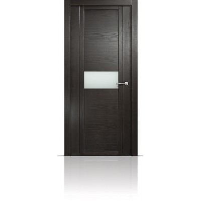 Межкомнатная Дверь Мильяна Qdo-H Ясень винтаж стекло белое