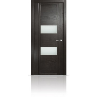 Межкомнатная Дверь Мильяна Qdo-N Ясень винтаж стекло белое