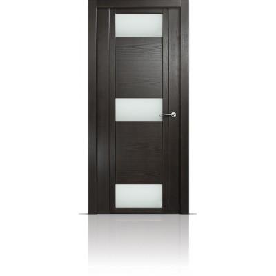 Межкомнатная Дверь Мильяна Qdo-R Ясень винтаж стекло белое