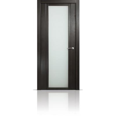 Межкомнатная Дверь Мильяна Qdo-X Ясень винтаж стекло белое