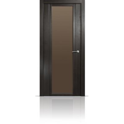 Межкомнатная Дверь Мильяна Qdo-X Ясень винтаж стекло евро
