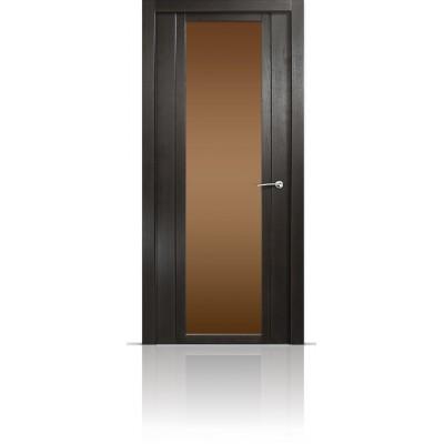 Межкомнатная Дверь Мильяна Qdo-X Ясень винтаж стекло бронзовое