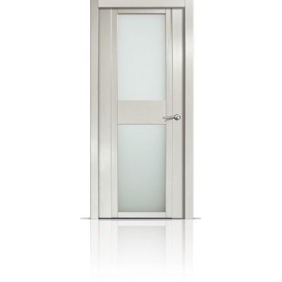 Межкомнатная Дверь Мильяна Qdo-D Ясень жемчуг стекло белое