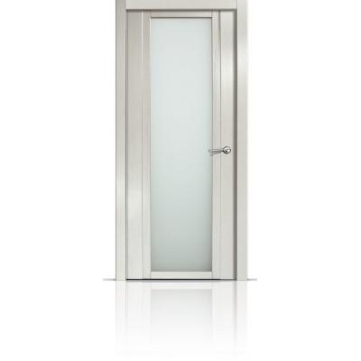 Межкомнатная Дверь Мильяна Qdo-X Ясень жемчуг стекло белое
