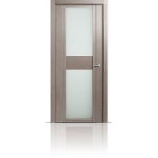 Дверь Мильяна Qdo-D Дуб грейвуд стекло белое