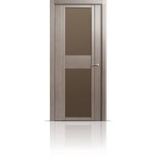 Дверь Мильяна Qdo-D Дуб грейвуд стекло евро