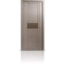 Дверь Мильяна Qdo-H Дуб грейвуд стекло евро