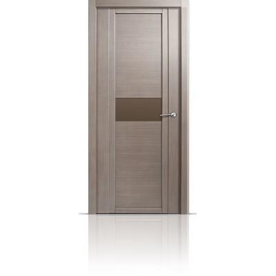 Межкомнатная Дверь Мильяна Qdo-H Дуб грейвуд стекло евро
