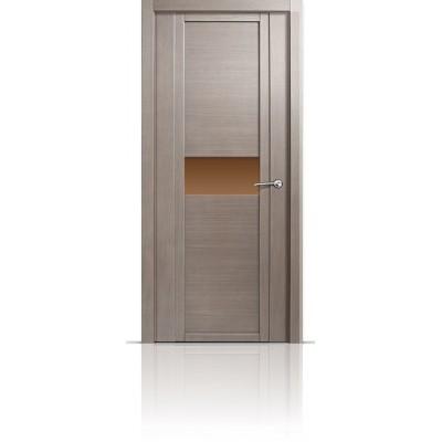 Межкомнатная Дверь Мильяна Qdo-H Дуб грейвуд стекло бронзовое