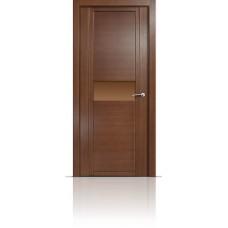 Дверь Мильяна Qdo-H Дуб палисандр стекло бронзовое