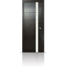 Дверь Мильяна ID-H Неро стекло белое