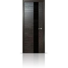 Дверь Мильяна ID-HL Неро стекло черное