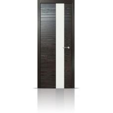 Дверь Мильяна ID-HL Неро стекло белое