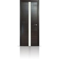 Дверь Мильяна ID-X Неро стекло белое