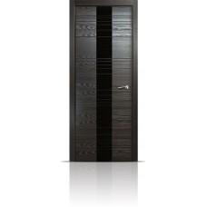 Дверь Мильяна ID-XL Неро стекло черное