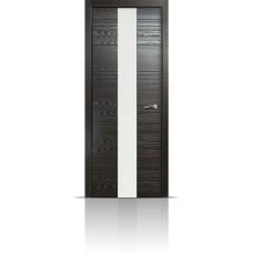 Дверь Мильяна ID-XL Неро стекло белое