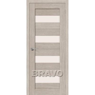 Межкомнатная Двери Экошпон Порта-23 3D цвет капуччино