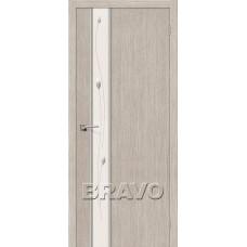 Дверь Экошпон Глейс-1 Sprig 3D Cappuccino