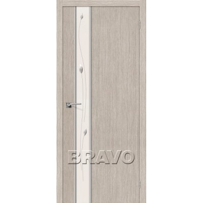 Межкомнатная Дверь Экошпон Глейс-1 Sprig 3D Cappuccino