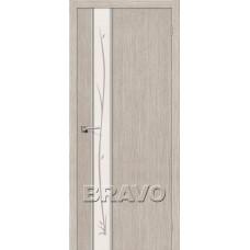 Дверь Экошпон Глейс-1 Twig 3D Cappuccino
