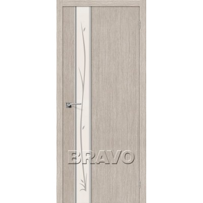 Межкомнатная Дверь Экошпон Глейс-1 Twig 3D Cappuccino