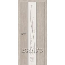 Дверь Экошпон Глейс-2 Twig 3D Cappuccino