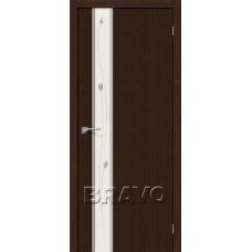 Дверь Экошпон Глейс-1 Sprig 3D Wenge