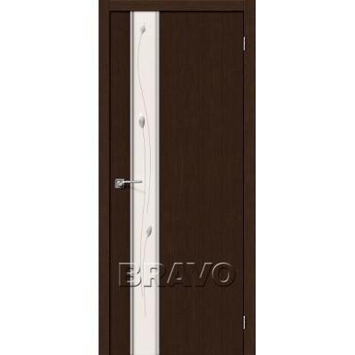 Межкомнатная Дверь Экошпон Глейс-1 Sprig 3D Wenge