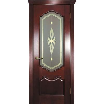Ульяновская дверь Фрейм 01 красное дерево ДО
