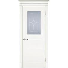 Межкомнатная дверь Смальта-01 молочная RAL 9010 ДО