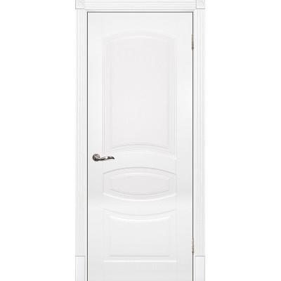 Межкомнатная дверь крашенная дверь Смальта-02 эмаль белая RAL 9003 ДГ
