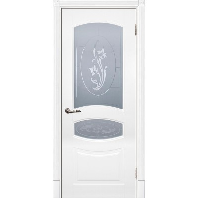 Межкомнатная дверь крашенная дверь Смальта-02 эмаль белая RAL 9003 ДО